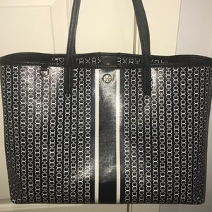 GeminiLink Tote Tory Burch:black,white,navy center